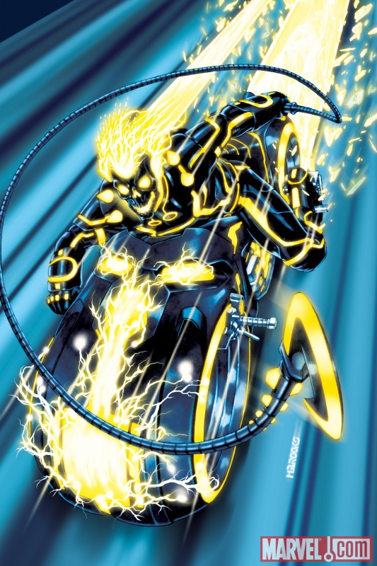 Iron Man, Spider-Man, Wolverine and more get the TRON treatment INCREDIBLE HULKS 0618 TRON VARIANT by Mark Brooks