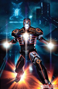 INVINCIBLE IRON MAN 0033 TRON VARIANT by Brandon... 197x300 Iron Man, Spider Man, Wolverine and more get the TRON treatment