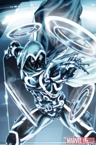 SECRET AVENGERS 0007 TRON VARIANT by Mark Brooks 199x300 Iron Man, Spider Man, Wolverine and more get the TRON treatment