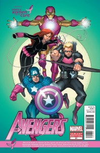 avengers 31 komen 197x300 Marvel Comics and Korman for the cure comic book covers