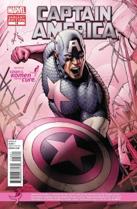 captainamerica 18 komen 197x300 Marvel Comics and Korman for the cure comic book covers