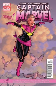 captainmarvel 05 komen 197x300 Marvel Comics and Korman for the cure comic book covers
