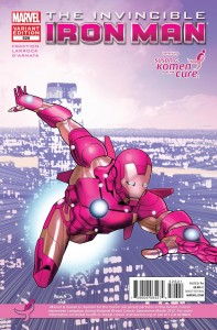 invincibleironman 526 komen 197x300 Marvel Comics and Korman for the cure comic book covers