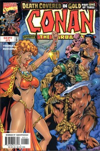 0001 1228 199x300 Conan  The Barbarian  Death Covered In Gold [Marvel] Mini 1