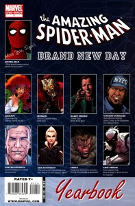 0001 181 197x300 Amazing Spider Man  Brand New Day  Yearbook [Marvel] OS1