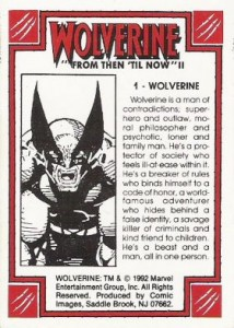 0001b 802 214x300 Wolverine  From Then Til Now II 1992 [Marvel  Comic Images] Card Set