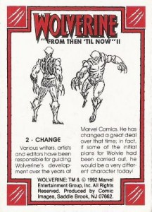 0002b 339 216x300 Wolverine  From Then Til Now II 1992 [Marvel  Comic Images] Card Set