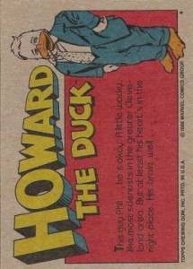 0004b 73 215x300 Howard The Duck  The Movie 1986 [Topps] Card Set