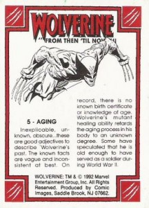 0005b 124 216x300 Wolverine  From Then Til Now II 1992 [Marvel  Comic Images] Card Set