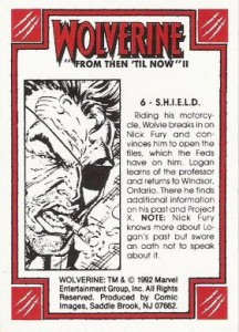 0006b 82 216x300 Wolverine  From Then Til Now II 1992 [Marvel  Comic Images] Card Set