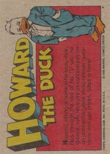 0007b 27 214x300 Howard The Duck  The Movie 1986 [Topps] Card Set