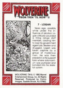 0007b 72 215x300 Wolverine  From Then Til Now II 1992 [Marvel  Comic Images] Card Set