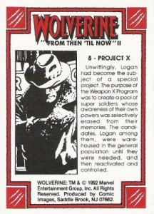 0008b 63 216x300 Wolverine  From Then Til Now II 1992 [Marvel  Comic Images] Card Set