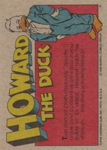 0010b 15 214x300 Howard The Duck  The Movie 1986 [Topps] Card Set