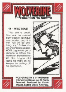 0011b 42 214x300 Wolverine  From Then Til Now II 1992 [Marvel  Comic Images] Card Set