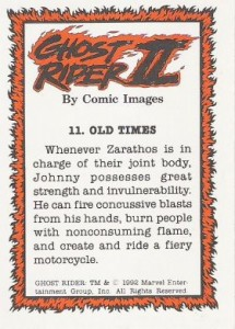0011b 7 215x300 Ghost Rider  Series 2 1992 [Comic Images] Card Set