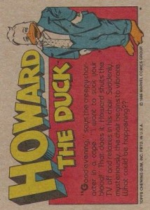 0013b 13 214x300 Howard The Duck  The Movie 1986 [Topps] Card Set
