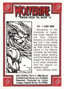 0013b 44 216x300 Wolverine  From Then Til Now II 1992 [Marvel  Comic Images] Card Set