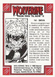 0014b 38 213x300 Wolverine  From Then Til Now II 1992 [Marvel  Comic Images] Card Set