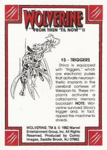 0015b 34 215x300 Wolverine  From Then Til Now II 1992 [Marvel  Comic Images] Card Set