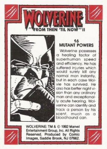 0016b 34 215x300 Wolverine  From Then Til Now II 1992 [Marvel  Comic Images] Card Set