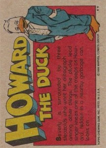 0017b 11 215x300 Howard The Duck  The Movie 1986 [Topps] Card Set