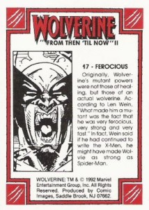 0017b 35 214x300 Wolverine  From Then Til Now II 1992 [Marvel  Comic Images] Card Set