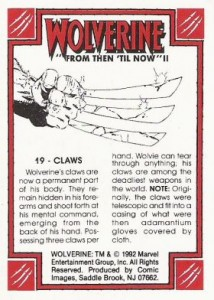 0019b 32 214x300 Wolverine  From Then Til Now II 1992 [Marvel  Comic Images] Card Set