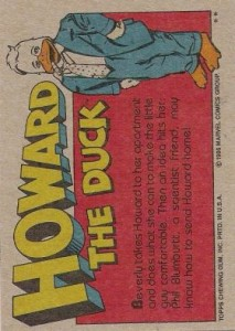 0020b 9 213x300 Howard The Duck  The Movie 1986 [Topps] Card Set