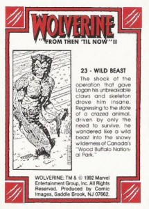 0023b 34 215x300 Wolverine  From Then Til Now II 1992 [Marvel  Comic Images] Card Set