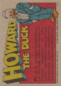 0023b 8 212x300 Howard The Duck  The Movie 1986 [Topps] Card Set