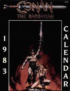 1983 231x300 Conan  The Barbarian  Calendar [Marvel] OS1