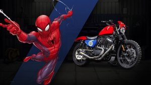 harley custom spider man 300x169 27 custom Marvel motorcycles