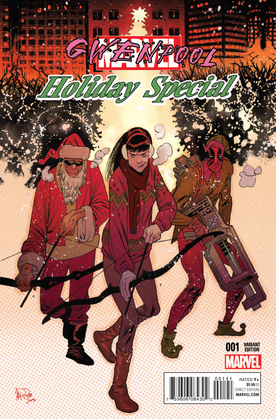 Gwenpool: Holiday Special 0001d Santa Variant