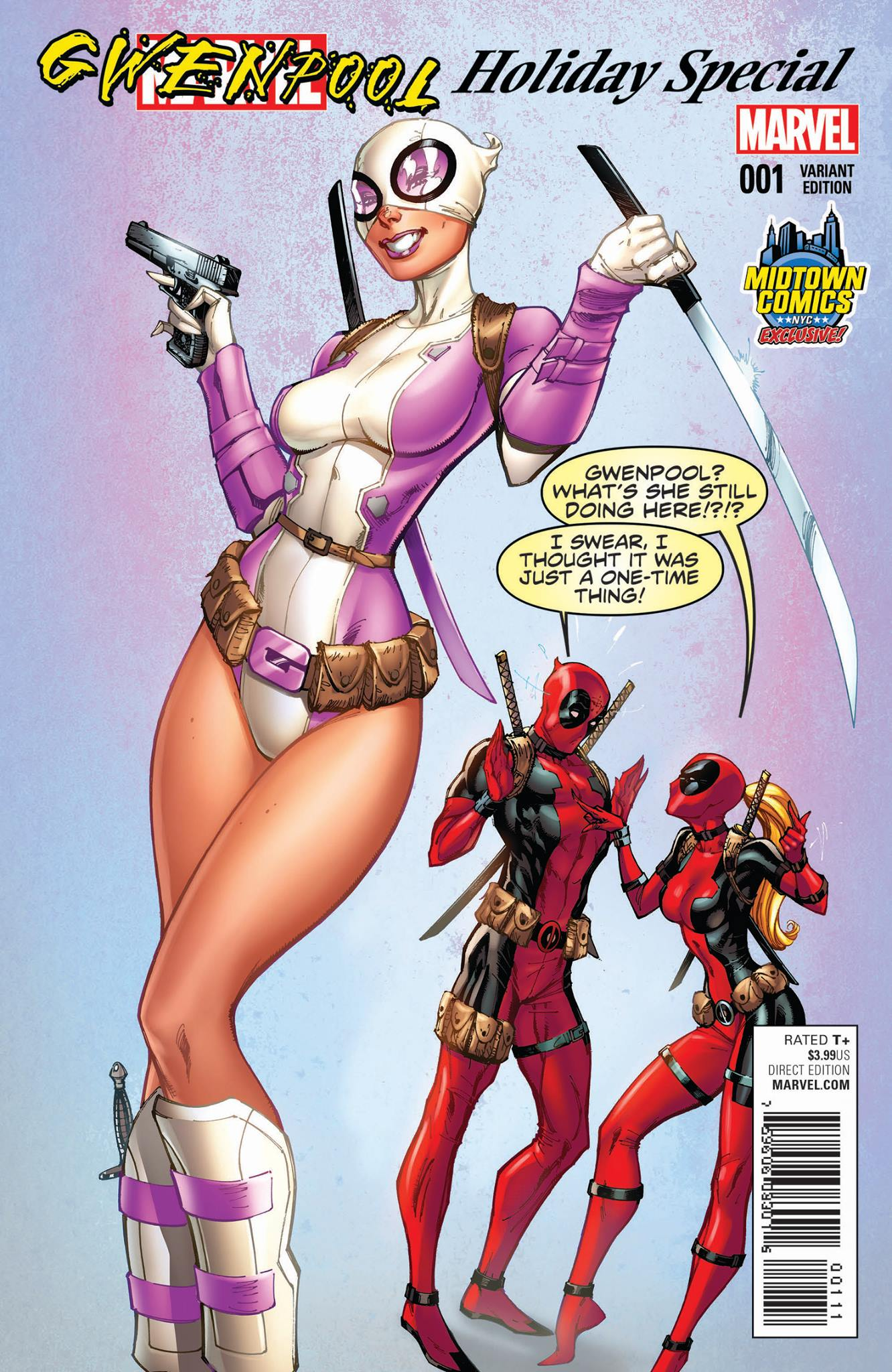 Gwenpool: Holiday Special 0001g Midtown Comics Variant