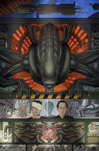 ALIEN III Rivera cov col 2 3 329x500 Dark Horse Announces Comic Adaptation of WILLIAM GIBSON'S ALIEN 3 Script