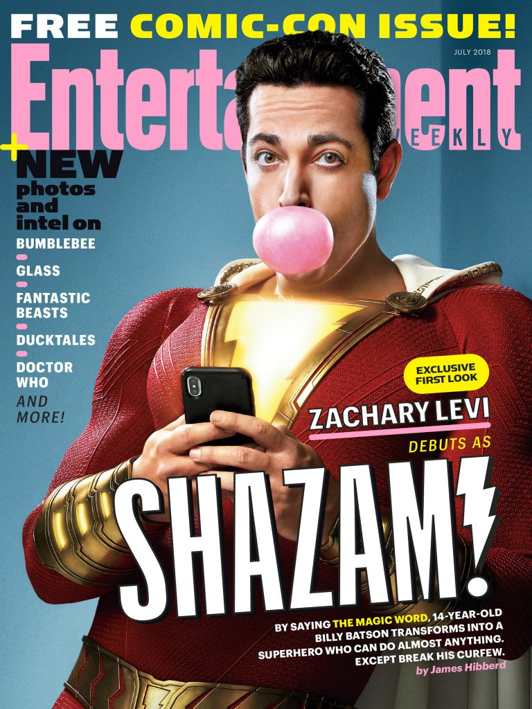 SHAZAM! takes over Entertainment Weekly's SDCC issue SHAZAM! takes over Entertainment Weekly's SDCC issue