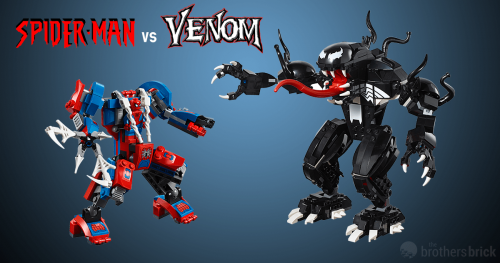 Spiderman Venom FB 1 500x263 76115: Spider Man Mech vs. Venom Mech