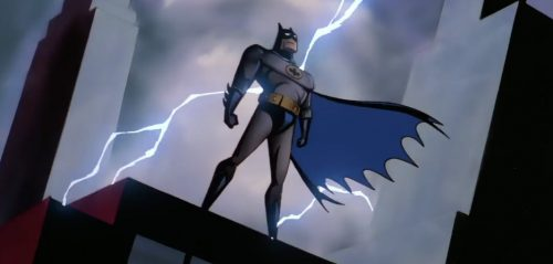 batman animatedseries lightning rooftop 500x239 See Batman: The Animated Series Remastered as Blu ray Box Set Price Drops and Adds Digital Copy