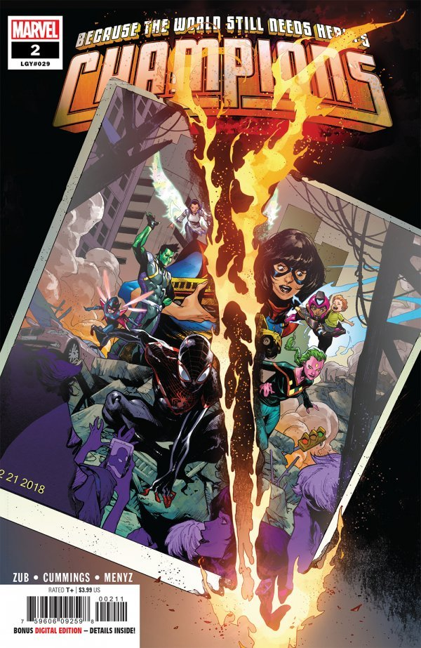 Comic Review for week of February 6th, 2019 CHAMPIONS #2