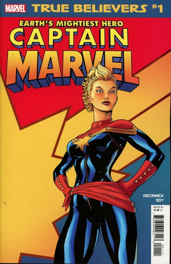 Comic Review for week of February 20th, 2019 TRUE BELIEVERS CAPTAIN MARVEL – EARTH'S MIGHTIEST HERO #1