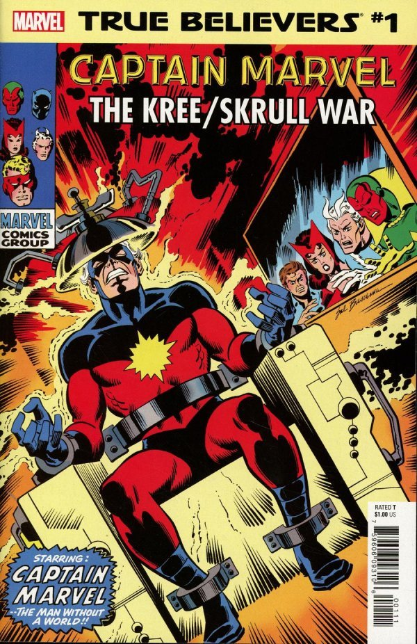 Comic Review for week of February 20th, 2019 TRUE BELIEVERS CAPTAIN MARVEL – KREESKRULL WAR #1