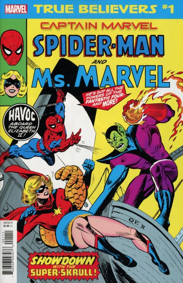 Comic Review for week of February 6th, 2019 TRUE BELIEVERS CAPTAIN MARVEL – SPIDER-MAN AND MS. MARVEL #1