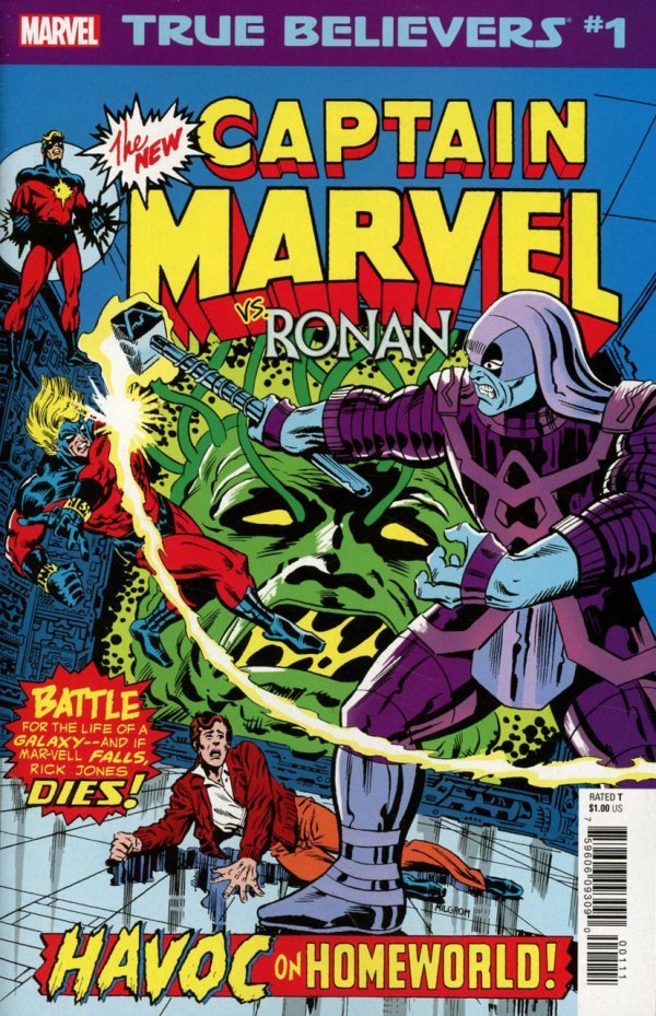 Comic Review for week of February 13th, 2019 TRUE BELIEVERS CAPTAIN MARVEL VS. RONAN #1