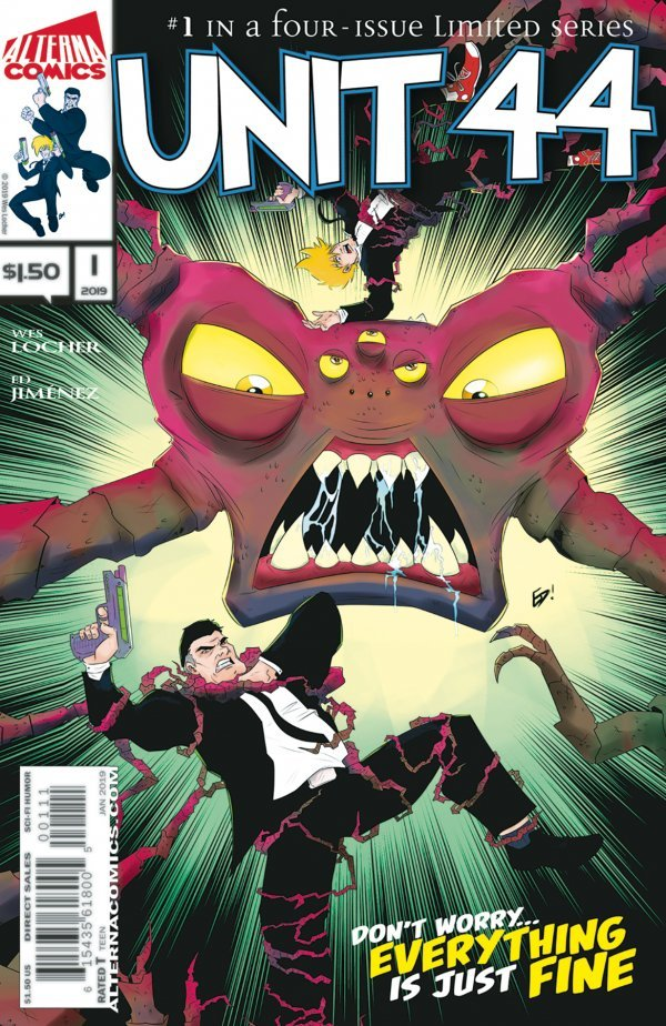 Comic Review for week of January 30, 2019 UNIT 44 #1