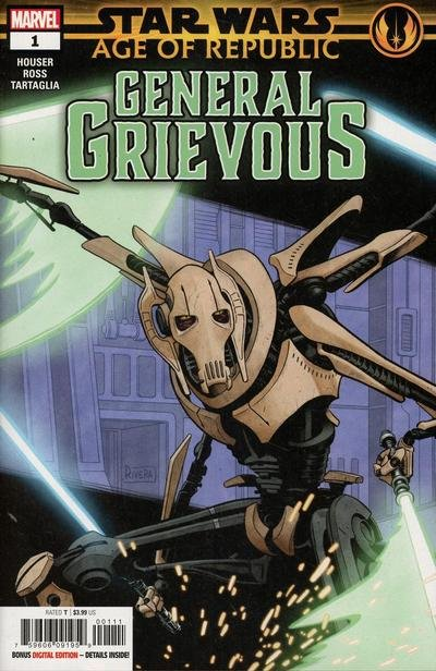 Comic Review for week of March 13th, 2019 STAR WARS AGE OF REPUBLIC – GENERAL GRIEVOUS #1