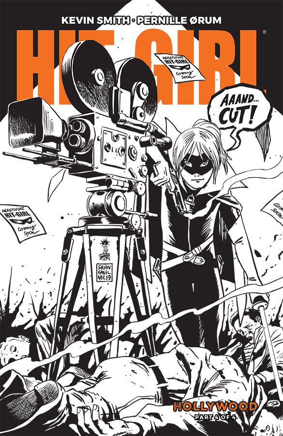 Comic Book Review for May 8th, 2019 HIT-GIRL SEASON TWO #4 COVER B B&W FRANCAVILLA