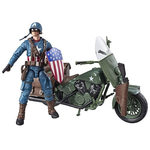9554018b946644a78ac8e800b75f2ddclg Marvel Legends Ultimate Captain America 6 Inch Action Figure with Motorcycle   Entertainment Earth