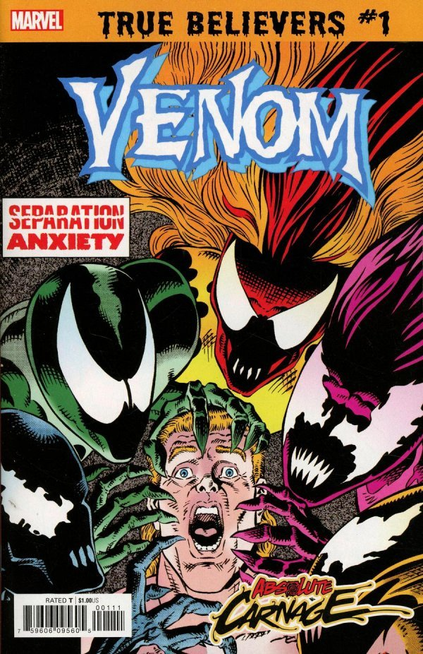 TRUE BELIEVERS ABSOLUTE CARNAGE SEPARATION ANXIETY 1 Comic Review for week of July 24th, 2019