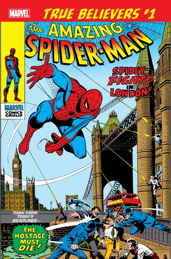 TRUE BELIEVERS SPIDER MAN SPIDEY FIGHTS IN LONDON 1 Comic Review for week of June 19th, 2019